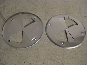 "Aluminum Round Air Wall Vent 7 13 16"" Diameter Horse Trailer Dog Box Spinner"