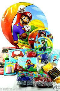 Super Mario Bros Kids Party Lot Set Decorations Plates Balloons Invites Cups