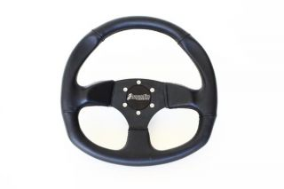 Dragonfire Racing Steering Wheel D Shaped 6 Bolt Vinyl Black Universal