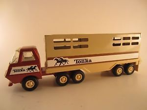 Vintage Tonka Horse Trailer Farm Truck Carrier Pressed Steel