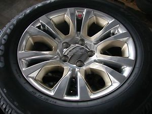 "4 2013 20"" Dodge RAM 1500 Laramie Factory Wheels Rims Goodyear Tires 2456"