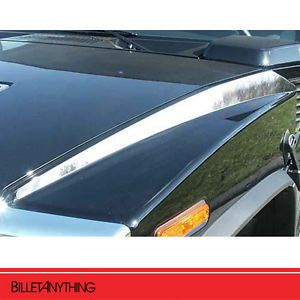 Hummer H2 Stainless Steel Hood Accent Trim 2pc