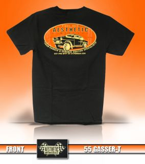 Aesthetic Finishers Mens 1955 55 Hot Rod Rat Rod Chevy Chevrolet Gasser T Shirt