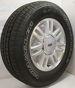 "New Set of 4 2013 Ford F150 Expedition 18"" Wheels Rims Goodyear Wrangler Tires"
