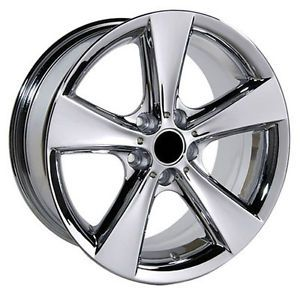 "18x8 5"" BMW Chrome Wheels Rims 3 Series 318i 325i 330i 335i 328i 5 Flare Spoke"