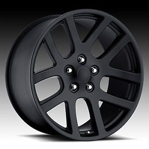 "20"" SRT10 Dodge RAM Laramie Hemi Durango Factory Style Wheels Rims Satin Black"