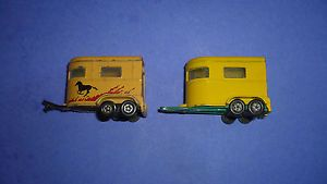 2VINTAGE Lesney Matchbox Horse Pony Trailers
