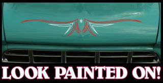 Custom Rat Hot Rod Pinstripe Decal Sticker 1
