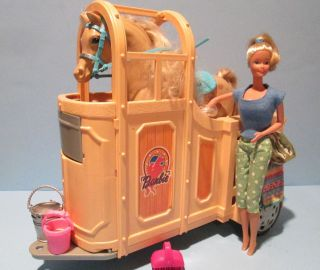 Mattel Barbie Horse Trailer Horse Doll and Accessories