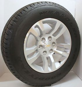 "New 2014 Chevy Silverado Z71 Suburban LTZ Tahoe 18"" Wheels Rims Goodyear Tires"