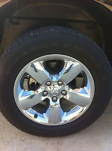 "Set 4 2013 Dodge RAM 1500 Chrome Clad 20"" Wheels Goodyear Tires"