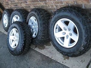 "5 Jeep TJ LJ Wrangler Rubicon MOAB 16"" Wheels Tires Goodyear MTR Kevlar New"