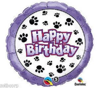Cute Paw Print Dog Cat Pet Happy Birthday Party Balloon Decor