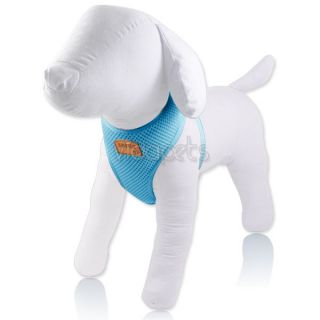 "13 16"" Girth Baby Blue Soft Mesh Comfort Dog Harness Vest Collar Small XS"