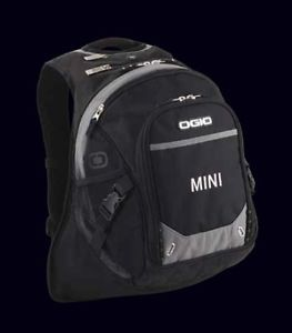 Mini Cooper Black Backpack Bag Laptop Carrier New