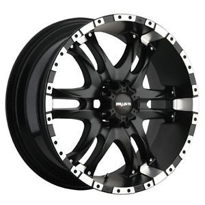 20 inch Ballistic Wizard Black Wheels Rims 6x5 5 14 Chevy Colorado GMC Canyon