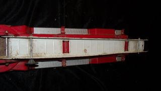 Vtg Nylint Firetruck Fire Engine Truck Pressed Steel Aerial Hook N Ladder Toy