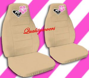 Cool Set of Hibiscus Flower Car Seat Covers Tan Awesome