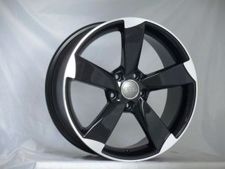 18 inch GTI TT RS Black Wheels 5x100 Rim SRT4 Golf Matrix WRX