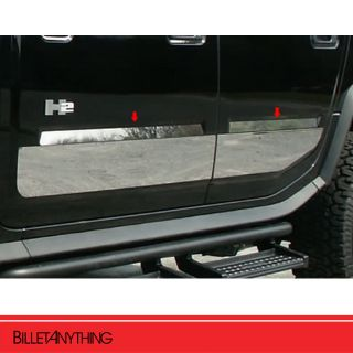 Hummer H2 Stainless Steel Body Side Door Trim 4pc