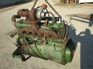 John Deere 329 Turbo Diesel Engine Runs Good Complete Combine Tractor 6600