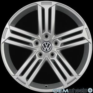 "18"" Silver Golf R Style Wheels Fits VW Golf Jetta CC GTI Passat Audi A3 A6 Rims"