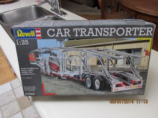 Vintage Revell Auto Transporter Semi Truck Trailer Plastic Model KIT1 25