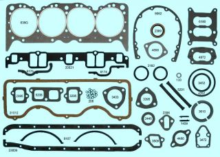 Chevy 348 Full Gasket Set Best 1958 59 60 61 62 63 64 65 Hi Temp Head Gaskets