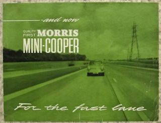 Morris Mini Cooper Car Sales Brochure 1963 H E 6363