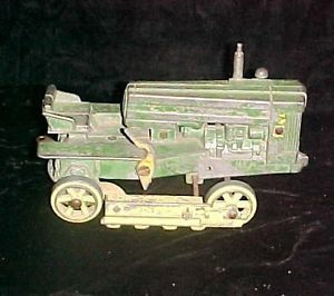 Old Vintage JD John Deere Crawler Type 420 Tractor Farm Toy to Restore or Parts