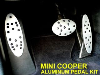 BMW Mini Cooper Aluminum Gas Brake Footrest Dead Pedal Cover Set Automatic