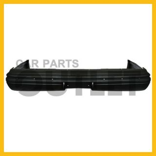 95 96 97 Lincoln Town Car Rear Bumper Cover Primed Black Plastic w Molding Hole