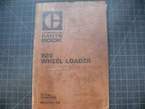 Cat Caterpillar 920 Wheel Loader Parts Manual Book