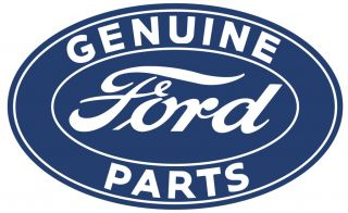 "Vtg Style 18 "" Ford Logo Tin Metal Sign Genuine Parts Rat Hot Rod Garage Service"