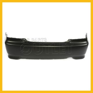 04 05 Honda Civic Rear Bumper Primered Black Plastic Facial Cover Coupe DX LX EX
