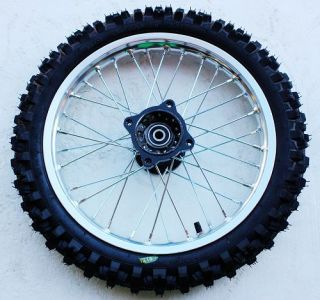 14 inch Front 12 inch Rear Alloy Wheels Rims Nobby Tyre Pit Pro Trail Dirt Bike