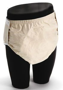 New 2 Adult Fitted Twill Brief Diaper Large Snap Washable Reusable Incontinence