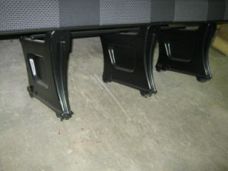 New 08 12 Mercedes Dodge Sprinter 4 Passenger Black Cloth Bench Seat
