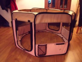 Large Pink Indoor Rabbit Cage Guinea Dog Cat Pet Play Pen Run Hutch Home
