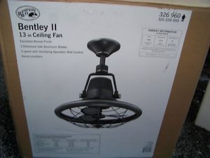 Hampton Bay Bentley II 13 in Indoor Outdoor Oscillating Ceiling Fan w Control