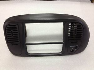1997 2002 Ford Expedition F150 Radio Climate Dash Bezel Trim AC Vent Gray