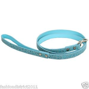 Pet Dog Leahes PU Leather Leashes Red Blue Black Red White