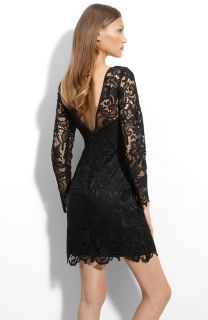 Adrianna Papell Lace Overlay Sheath Black Dress 12 New