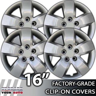 "2007 2008 Nissan Altima 16"" Silver Clipon Hubcap Covers"
