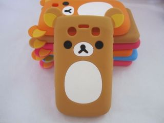 Lovely Cute Teddy Bear Silicone Soft Case for Blackberry Bold 9700 9780 9020