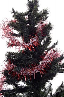 Red White Christmas Tree Garland Decoration Indoor Outdoor 12 ft Holiday New