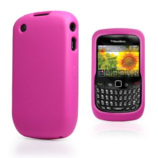 Pack of 5 Hot Pink Silicone Case Cover for Blackberry Curve 8520