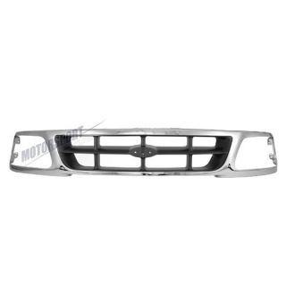 Front Upper Grille Ford 97 98 F150 F250 4WD Truck Chrome Body Parts FO1200320
