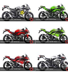 Kawasaki Ninja 300 250i Custom Graphic Decal Sticker Kit