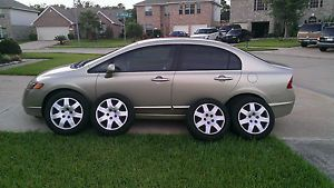 "4 Honda Civic OEM Factory 16"" Wheels w Hubcaps w Pirelli P4 Tires"